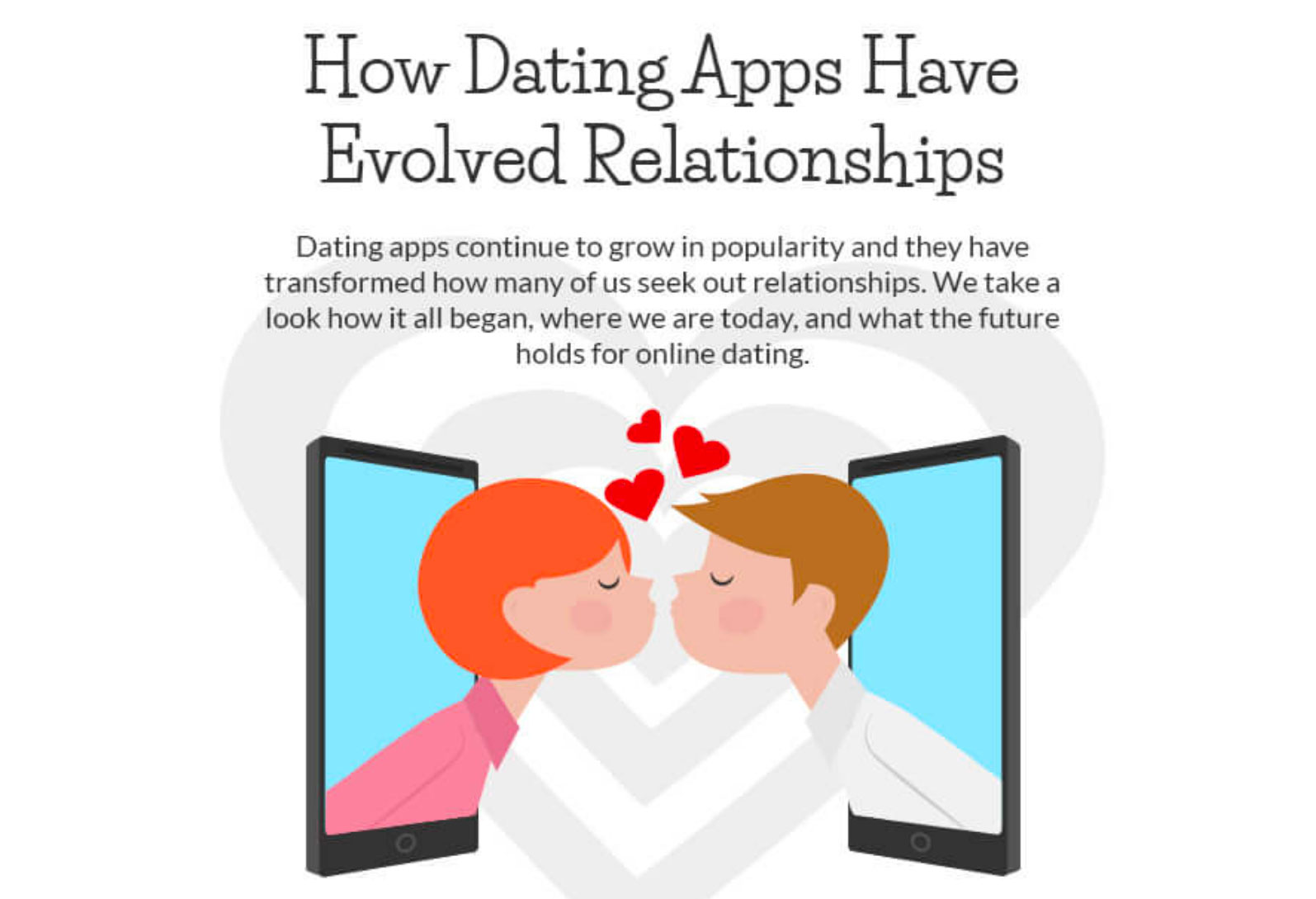 The History Of Dating— Apps Rule The World!